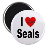 I Love Seals Magnet