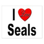 I Love Seals Small Poster