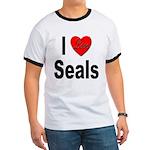 I Love Seals (Front) Ringer T