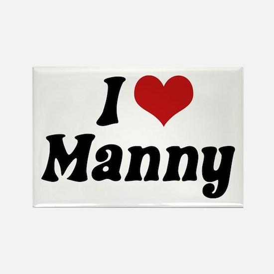 I Love Manny Rectangle Magnet