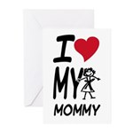 I Heart My Mommy Greeting Cards (Pk of 10)