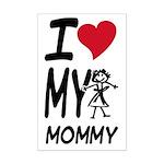 I Heart My Mommy Mini Poster Print