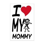 I Heart My Mommy Mini Poster Print