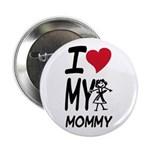 "I Heart My Mommy 2.25"" Button (100 pack)"