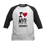 I Heart My Mommy Kids Baseball Jersey