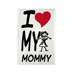 I Heart My Mommy Rectangle Magnet (100 pack)