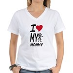 I Heart My Mommy Women's V-Neck T-Shirt