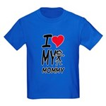 I Heart My Mommy Kids Dark T-Shirt