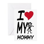 I Heart My Mommy Greeting Cards (Pk of 20)