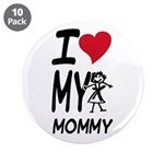 "I Heart My Mommy 3.5"" Button (10 pack)"