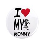"I Heart My Mommy 3.5"" Button (100 pack)"