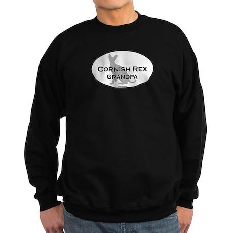 Cornish Rex Grandpa Sweatshirt (dark)