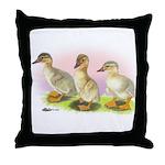 Buff Ducklings Throw Pillow