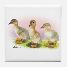 Buff Ducklings Tile Coaster