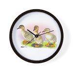Buff Ducklings Wall Clock