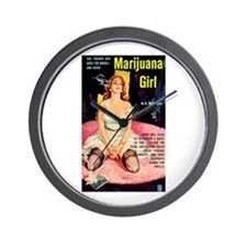 "Wall Clock - ""Marijuana Girl"""