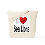 I Love Sea Lions Tote Bag