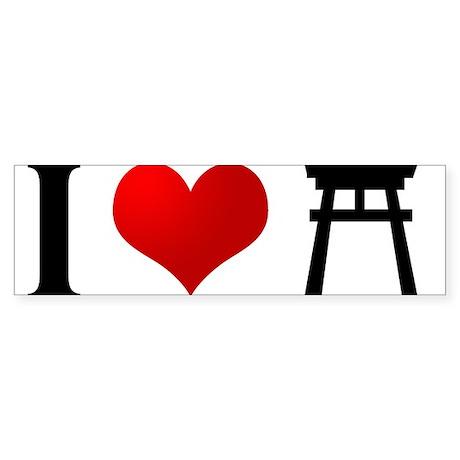 I Love Shintoism Bumper Sticker