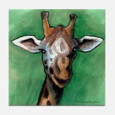 Cute Giraffes Tile Coaster