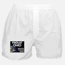 findlay ohio - greatest place on earth Boxer Short