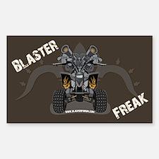 Brown Blaster Freak Rectangle Decal