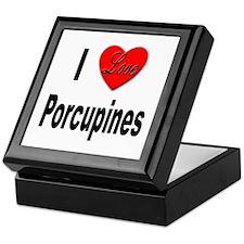 I Love Porcupines Keepsake Box