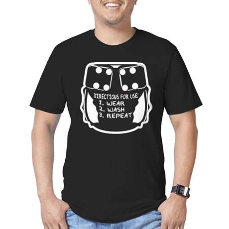 Wear, Wash, Repeat... Men's Fitted T-Shirt (dark)