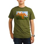 Poppies Organic Men's T-Shirt (dark)