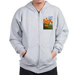 Poppies Zip Hoodie