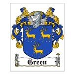 Green Coat of Arms Small Poster