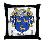 Green Coat of Arms Throw Pillow