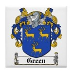 Green Coat of Arms Tile Coaster