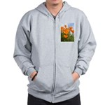 California Poppies Zip Hoodie