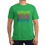 Rainbow Cat Tracks Men's Fitted T-Shirt (dark)