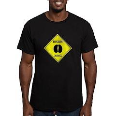 Bison Crossing Men's Fitted T-Shirt (dark)