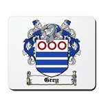 Grey Coat of Arms Mousepad