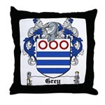 Grey Coat of Arms Throw Pillow