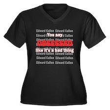 Unique Twilight obsessed Women's Plus Size V-Neck Dark T-Shirt