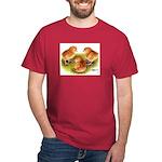 Red Leghorn Chicks Black T-Shirt