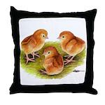 Red Leghorn Chicks Throw Pillow