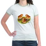 Red Leghorn Chicks Jr. Ringer T-Shirt