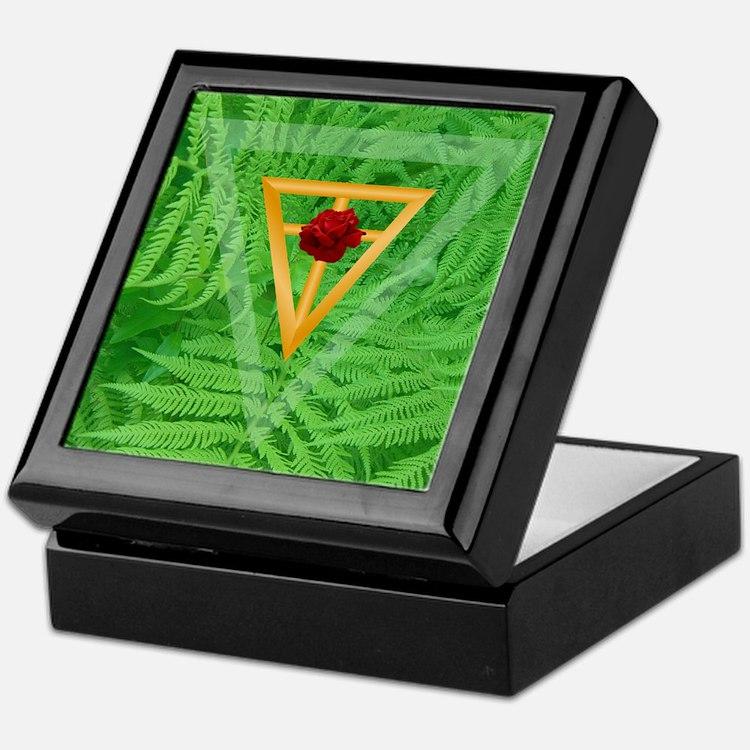 Garden of Peace Tile Incense Box