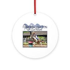 Barrel Racing Hoofprints Ornament (Round)