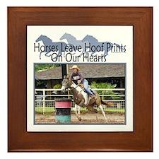 Barrel Racing Hoofprints Framed Tile