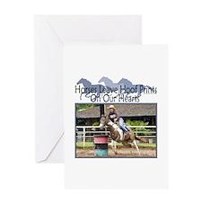 Barrel Racing Hoofprints Greeting Card