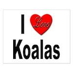 I Love Koalas Small Poster