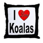 I Love Koalas Throw Pillow