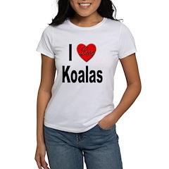 I Love Koalas (Front) Women's T-Shirt