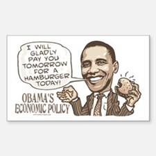 Wimpy Obama Hamburger Rectangle Decal
