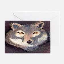 Cute Wolf funny Greeting Card